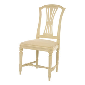 Gustavian hand painted chair cream finish