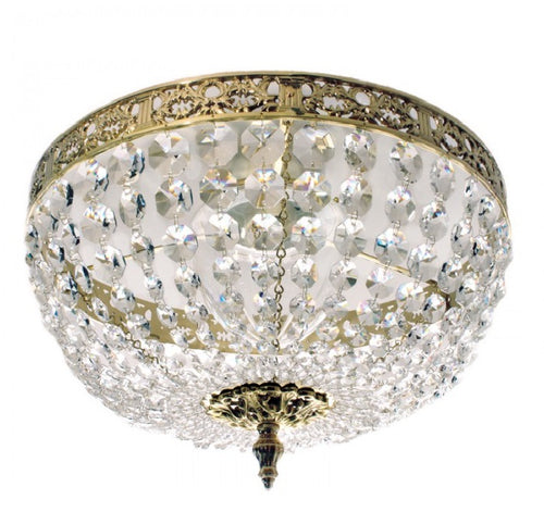 Brass plafond bathroom chandelier IP44