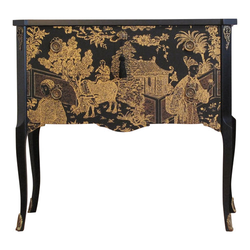 Gustavian Commode with Chinoiserie Print