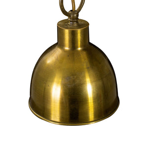 Art Deco 1900's Pendant Lights - brass detail
