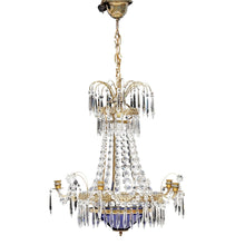 Antique Crystal Chandelier 1900's