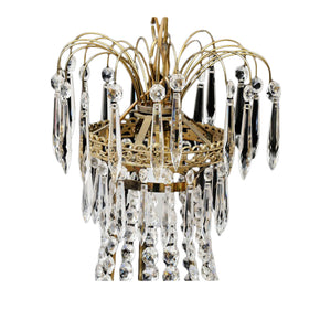 Antique Crystal Chandelier 1900's - detail