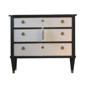 (505) Antique Gustavian Chest in Coco Chanel Style (DaVinci)
