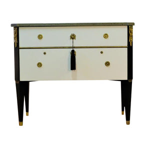 (112) Coco Chanel Gustavian Louis XVI Style Chest (DaVinci)