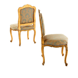 Antique Louis XV Style Chairs - side profile