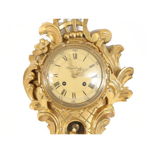 Rococo style wall clock from 1900 - face