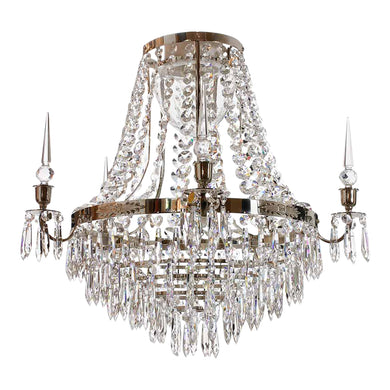 Large chrome bathroom chandelier IP44