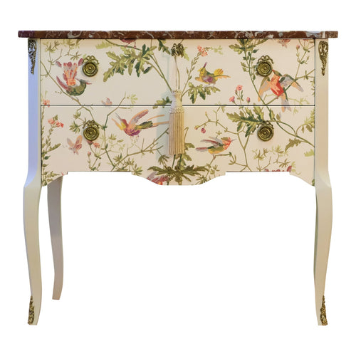 floral bedside commode
