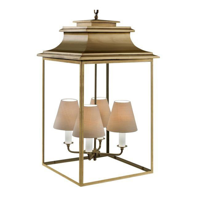 4 candle antique brass lantern