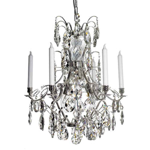 silver crystal chandelier