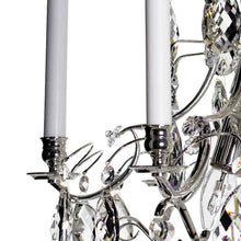 silver crystal chandelier - candle holders