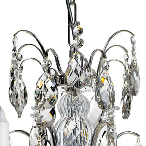 silver crystal chandelier - crystals