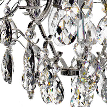 silver crystal chandelier - hand cut crystals