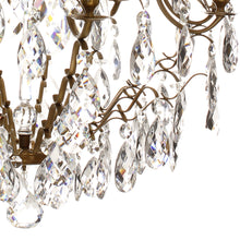Baroque Crystal Chandelier - crystal detail