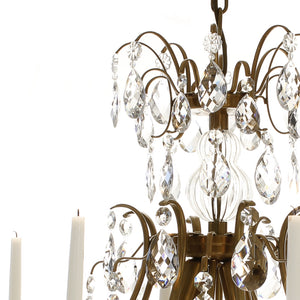 Baroque Crystal Chandelier - frame detail