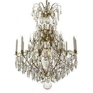 Baroque 10 arm crystal chandelier