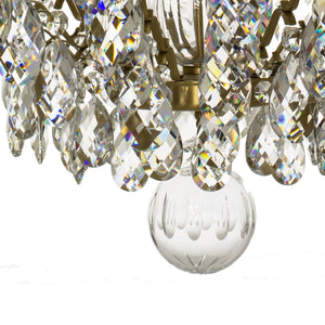 Baroque 10 arm crystal chandelier - ball