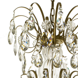 Baroque 10 arm crystal chandelier - frame
