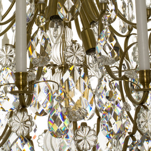 Baroque 10 arm crystal chandelier - crystals