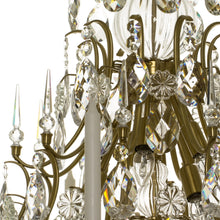 Baroque 10 arm crystal chandelier - detail
