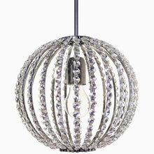 Modern Style Crystal Chandelier: Nickel spherical chandelier (25cm/9.8inches)