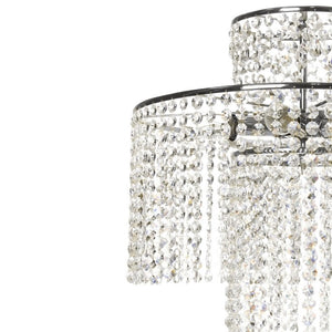 Nickel plated crystal rainfall chandelier - frame
