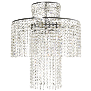 Nickel plated crystal rainfall chandelier