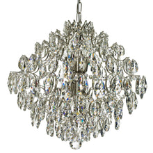 Nickel plated and crystal modern style chandelier