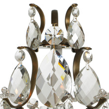Baroque Antique Brass Wall Sconce with almond crystals: almond crystal