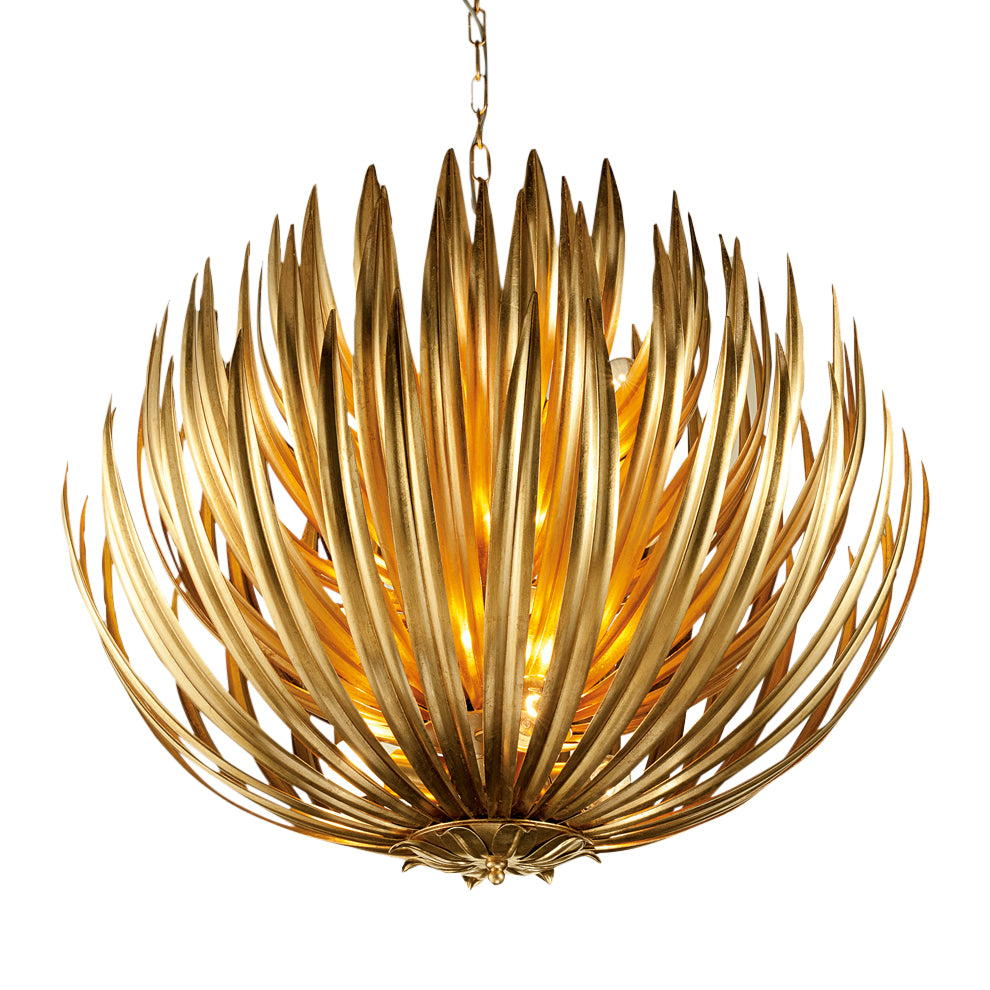 Florentine Antique Gold Leaf Artichoke light