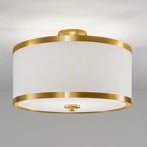 Brushed brass ceiling light - detail