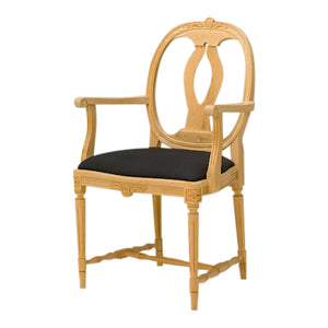 Anna Hand Carved Armchair - wood