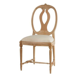 Anna Wooden Chair with Seat - carving