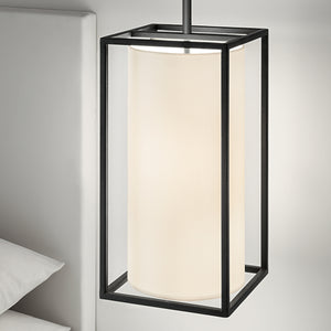 Classic black frame light with shade - detail