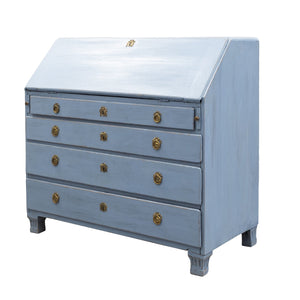 Antique Swedish Secretaire - blue