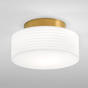 Art Deco Style brushed brass light  - detail