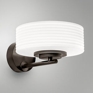 Capri wall light in black bronze with opal glass - detail