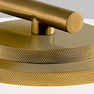 Capri brushed brass table lamp - detail