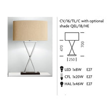 Polished Chrome Table Lamp on Wood (Taller Version)