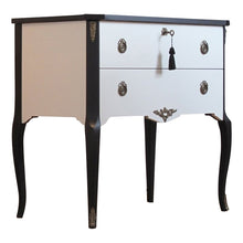 (206-2) Coco Chanel Gustavian Louis XV Style Chest (A Pair) (DaVinci)