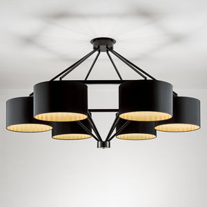Diamond frame pendant light - details