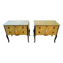 (201-2) William Morris Louis XV Commodes (Pair) (DaVinci)