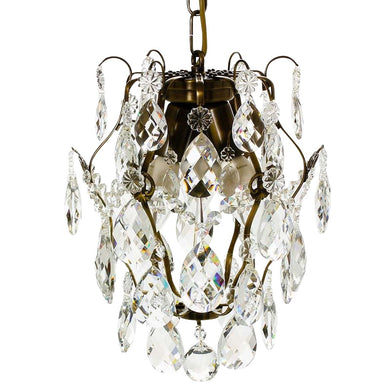 Dark Brass Baroque Chandelier