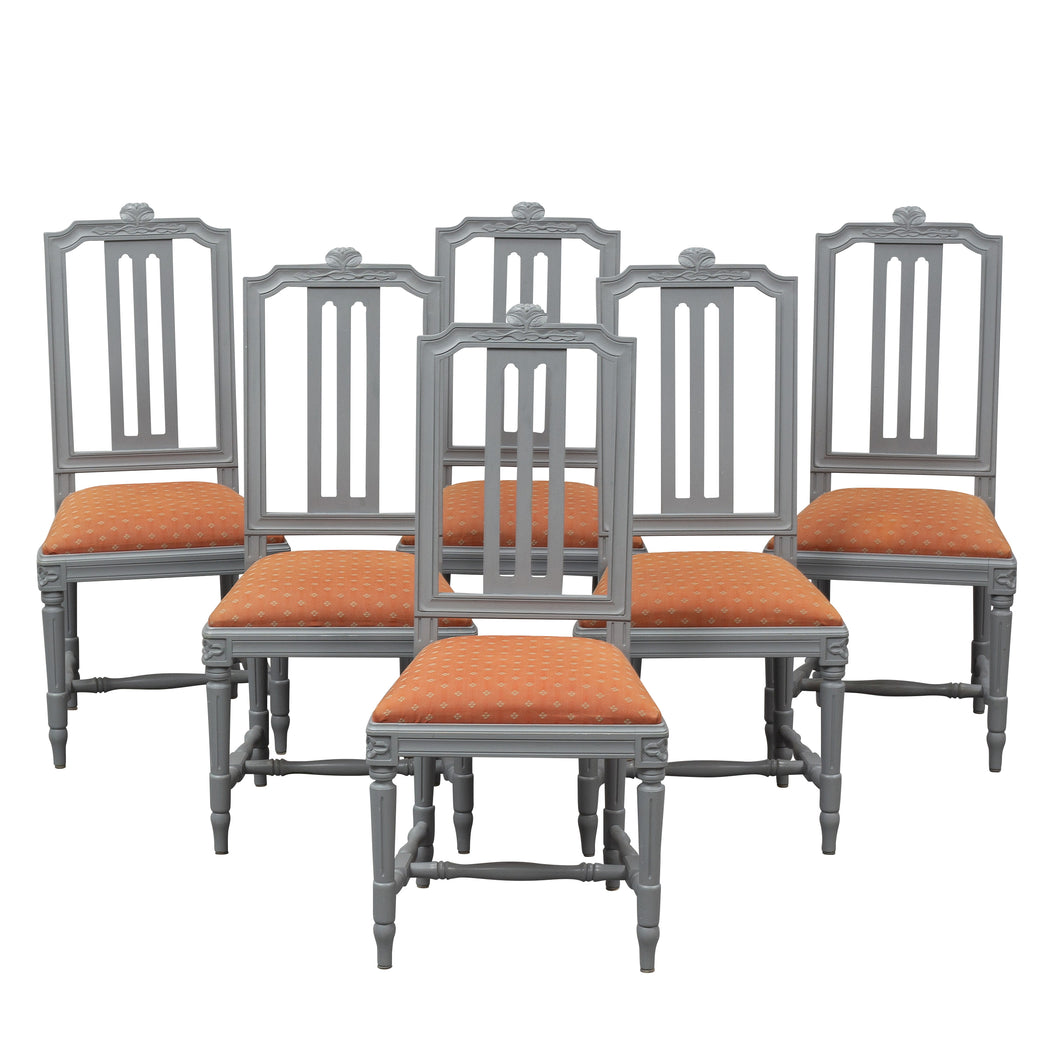 set of 6 Gustavian chairs