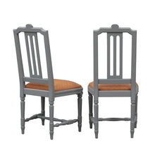 Hand painted carved Gustavian chairs