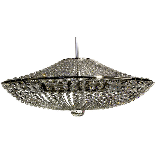 Estelle crystal chandelier with adjustable suspension wire