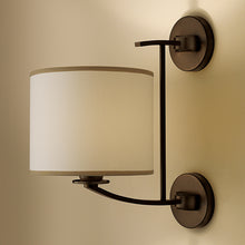 Glasgow penny bronze wall light with shade - detail