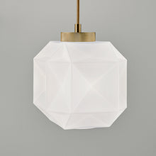 Opal Coloured Glass pendant light - detail