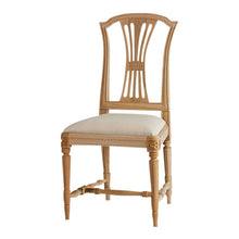 Gustavian hand painted chair natural wood
