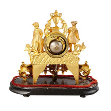 Mantel clock in gilt - back